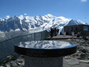 The Mont Blanc from Le Brevent