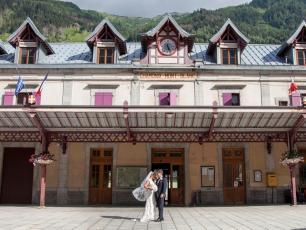 Getting married in Chamonix, Train station of Chamonix