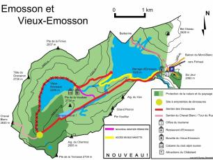 Map of the Emmoson Dam area