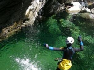 Jump into the water... Canyoning in Chamonix