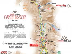 Carte de la vallée de Chamonix - version 2019