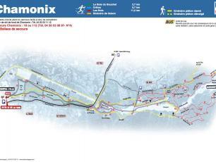 Chamonix Cross Country Ski Map