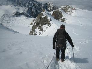 l'ascension du Mt Blanc en été,