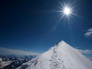 l'ascension du Mt Blanc en été, Le sommet
