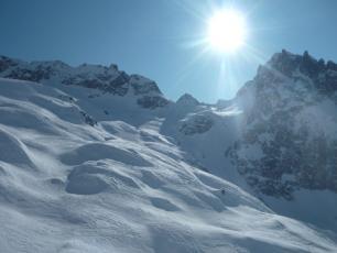Combe des Crochues, La Flégère en Chamonix Mont-Blanc