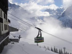 The Flegere Cable Car in Chamonix