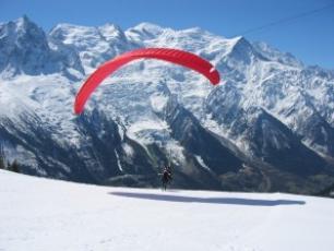 Paragliding in Flégère