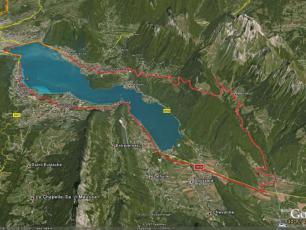 Annecy Bike Tour Map