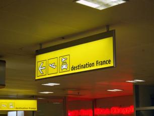 French sector sign at Geneva Airport