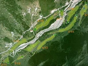 Golf de Courmayeur, vue aérienne