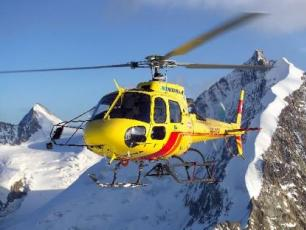 Helicopter transfer from Switzerland to Chamonix