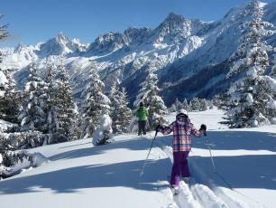 Les Houches is a ski-resort located at 6 kilometres from Chamonix