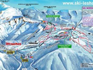 Plan domaine de ski de la Vallée de Chamonix - Les Houches