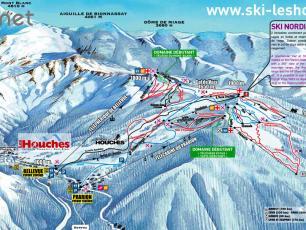 Карта горнолыжного курорта Лез Уш