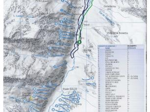 Cogne Valley Ice Falls - Ice Climbing - Valnontey Map