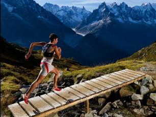 Kilian Jornet Burgada Running in Chamonix