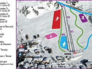Le Plan des Pistes de Ski du Domaine Skiable de la Vormaine