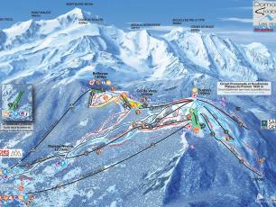 Map of Les Houches Ski Resort and Slopes