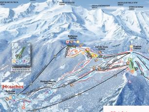 Les Houches ski touring route track map