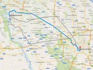 Malpensa Milan Centre Distance