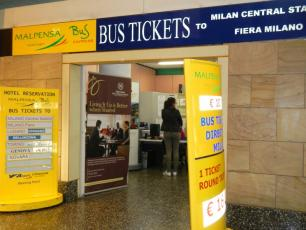 Malpensa Terminal 1 Bus Tickets to Milan Central Station