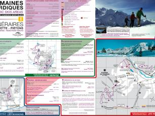 Snowshoeing map for Chamonix Valley