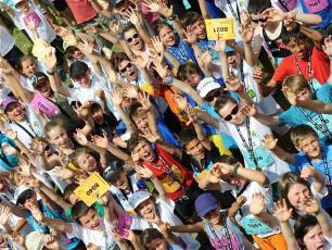 Kids at the Mont Blanc Marathon & Cross du Mont Blanc