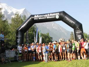 Start line Mont Blanc Marathon & Cross du Mont Blanc