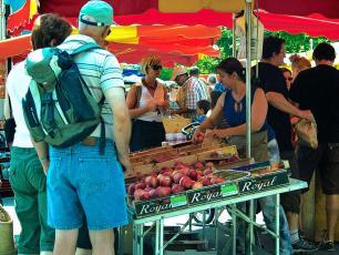 People Buying in Chamonix Market