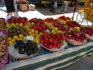 Fruits and Vegetables in Chamonix Market