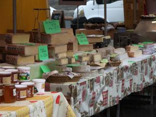 Cheese Stand in Chamonix Market