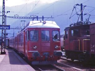 Martigny Rail Station SBB Trains