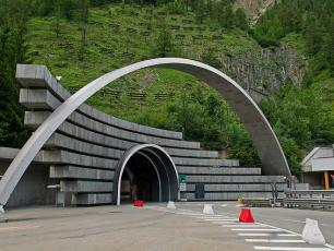 The Mont Blanc Tunnel - Italian Entrance