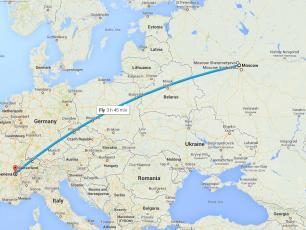 В Шамони из России самолетом