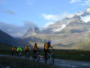 The Mont Blanc Tour on bicicycle