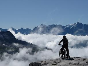 Mountain biking in Chamonix Valley
