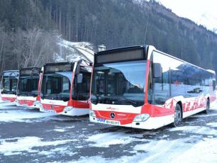 New Euro 6 Buses in Grepon Parking