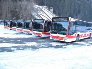 Les 6 nouveaux bus Euro 6 présentés sur le parking du Grépon