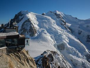 The Summit of the Aiguille du Midi - Photo courtesy of CMB. Copyright @ Bertrand Delapierre