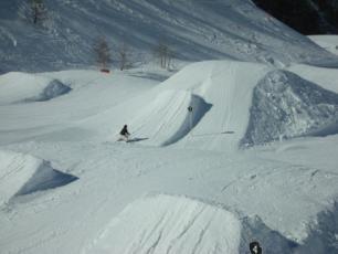 Snowpark de Grands Montets, un endroit parfait pour le freestyle