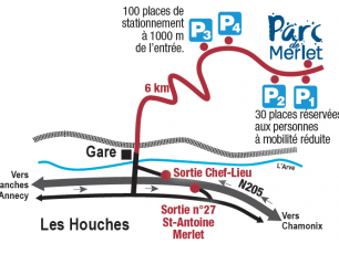 Access Plan for Merlet Animal Park Copyright @ Parc de Merlet