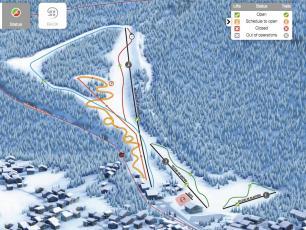 Le plan des pistes de ski des Planards à Chamonix