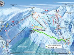Aiguillete des Posettes, Ski de Randonnée, parcours d'entrainement Le Tour