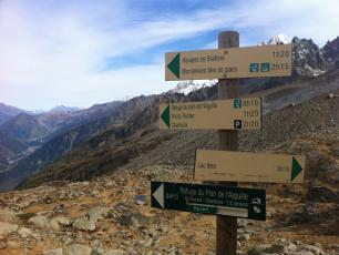 The Chamonix Trekking and Hiking Signs