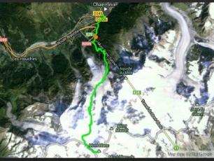 Route Mont Blanc Speed Record on Foot