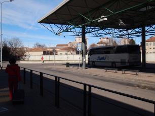 Savda Bus at Lampugnano Bus Station in Milan