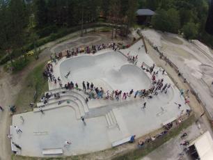 Chamonix Skatepark vue aérienne