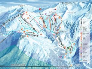 Le Tour Charamillon Ski Touring training map