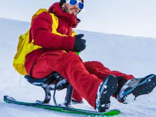 SNOOC is a new excting French invention, which can be practised in the Chamonix Valley at Les Planards. photo source @planards.fr