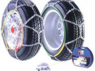 Snow Chains in Winter, how to fit them on